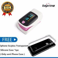 Dimana Beli Toprime Finger Pulse Oximeter With Neck Wrist Cord 1001 Pink Toprime