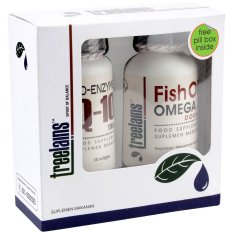 Treelains Paket Healthy Heart Jantung Sehat Fish Oil Omega 3 Double 1000 Mg Coenzyme Q10 100 Mg Indonesia Diskon 50