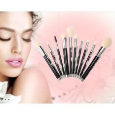 Triple TERBAIK 10 Pcs Khusus Super Soft Makeup Brush Cosmetics Foundation Blending Brush Kuas Bedak Wajah & Nbsp; -Intl