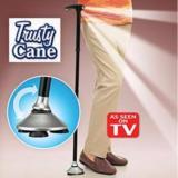Review Trusty Cane Alat Tongkat Bantu Jalan Manula Lipat Lampu Led Universal