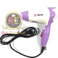 Twin Dog Pengering Rambut TD 2235  / Hair Dryer Lipat Mini 350 watt