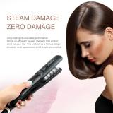 Jual Ubest Penggunaan Ganda Profesional Uap Keramik Steam Hair Straightener Hair Styling Tool Black Uni Eropa Internasional Oem Original