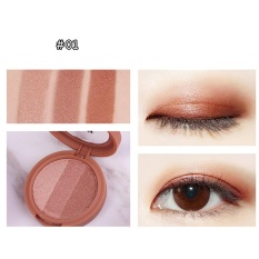 Ubub 3 Warna Eye Shadow Highlighter Makeup Bubuk Smoked Palet Eyeshadow-Intl