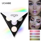 Ucanbe Merek Segitiga Glitter Eyeshadow Palet Warna Holografik Eye Lip Face Makeup Shimmer Shine Powder N*D* Eye Shadow Intl Asli