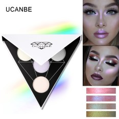 Jual Ucanbe Merek Segitiga Glitter Eyeshadow Palet Warna Holografik Eye Lip Face Makeup Shimmer Shine Powder N*D* Eye Shadow Intl Branded