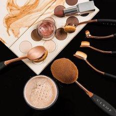 UKLISS Makeup Brush 10 Pieces Profesional Oval Fashion Lembut Kosmetik Brush Set untuk Powder, Blush, Foundation Brush, Eye Shadow, Concealer, Bibir, Alis Mata, Eye Shadow, Concealer dan Kuas Kontur-Intl