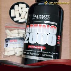 Spesifikasi Ultimate Nutrition Amino 2000 Repack Eceran 50 Tablet Dan Harganya