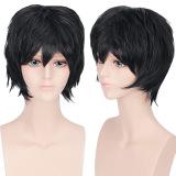 Katalog Unisex Anime Pendek Lurus Penuh Wig Hitam Terbaru