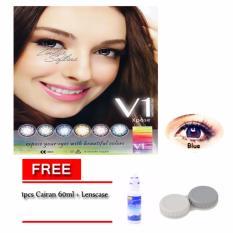 V1 Expose Softlens / Lensa Kontak - Blue - Free Cairan 60ml + Lenscase