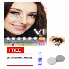 V1 Expose Softlens / Lensa Kontak - Violet - Free Cairan 60ml + Lenscase