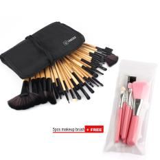 Toko Vander 32 Pcs Wajah Makeup Brushes Set 5 Pcs Eye Makeup Brush Set Beli 1 Dapatkan 1 Free Brown Intl Online