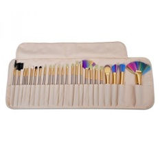VANDER Makeup Brushes 24 Pieces Professional Makeup Brush Set Synthetic Kabuki Foundation Blending Blush Face Eyeliner Shadow Power Brushes Liquid Cream Concealer Lip Cosmetics Brushes Kit (Colorful)
