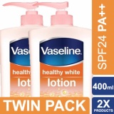 Spesifikasi Vaseline Lotion Healthy White Spf24 Pa 400Ml Twin Pack Yang Bagus