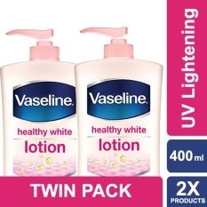 Vaseline Lotion Healthy White Uv Lightening 400Ml Twin Pack Di Indonesia