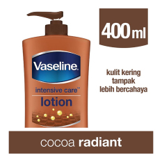 Review Toko Vaseline Lotion Intensive Care Cocoa Radiant 400Ml Online