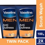 Vaseline Men Face Scrub Anti Dullness 100 G Twin Pack Indonesia