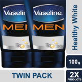 Harga Vaseline Men Face Wash Healthy White 100 G Twin Pack Vaseline Men