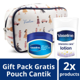 Jual Vaseline Petroleum Jelly 50Ml Lotion Intensive Care Advanced Strength 200Ml Free Make Up Pouch Vaseline Grosir