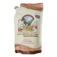 Jual Velvy Goat S Milk Shower Cream Extra Moist Licorice Reffil 800M Grosir