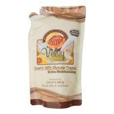 Jual Velvy Goat S Milk Shower Cream Extra Moist Royal Jelly Reffil 800M Indonesia Murah