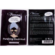 Promo Vienna Face Spa Peel Of Mask Purifying Black Mud Isi 6 Sachet 15Ml Murah
