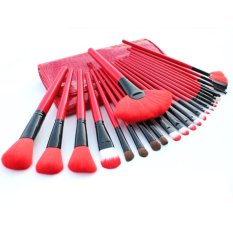 Review Vienna Linz Kuas Cosmetic Professional Make Up Brushes Set 24 Pc