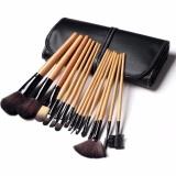 Model Vienna Linz Kuas Make Up Cosmetic Brush 15 Pcs With Pouch Professional Brushes Makeup Set Kit Tool Brushes Super Soft Pouch Kosmetik Peralatan Kecantikan Wanita Profesional Bulu Halus Lembut Dandan Wajah Maksimal Black Terbaru