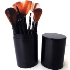 Beli Vienna Linz Kuas Make Up Cosmetic Brush Professional 12 Pcs With Round Case Tube Makeup Set Kit Tool Brushes Super Soft Pouch Bag Hitam Online Dki Jakarta