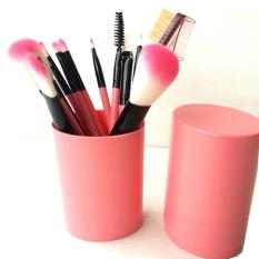 Top 10 Vienna Linz Kuas Make Up Cosmetic Brush Professional 12 Pcs With Round Case Tube Makeup Set Kit Tool Brushes Super Soft Pouch Bag Pink Online
