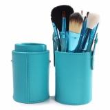 Promo Vienna Linz Kuas Make Up Cosmetic Brush Professional 12 Set With Round Case Green Murah