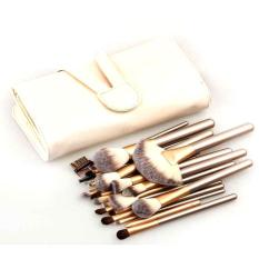 Harga Vienna Linz Kuas Make Up Persia 24 Pcs Dengan Dompet Professional Cosmetic Brush S8486 Gold Murah