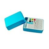 Beli Barang Vinmax 1 Pcs Aluminium 180 Lubang Dental Bur Holder Autoclave Disinfeksi Kotak Autoclavable 135℃ Biru Online