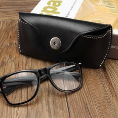 Beli Vintage Handmade Cow Leather Glasses Case Causal Jeans Belt Eye Glasses Box Bag Black Intl Oem