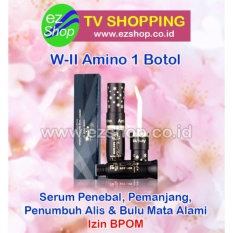 W-II Amino Long Lashes Solution (1 Botol) - Serum / Obat Pelentik, Penebal, Pemanjang, Pelebat, Penumbuh Alis & Bulu Mata Alami (W2 WII Amino) - Jaminan Asli EzShop - Ez Shop Tv Home Shopping Indonesia