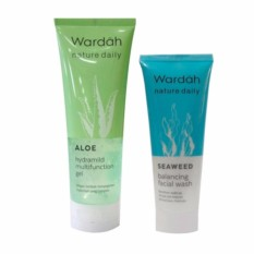 Wardah Aloe Hydramild Multifunction Gel Free Wardah Seaweed Balancing Facial Wash