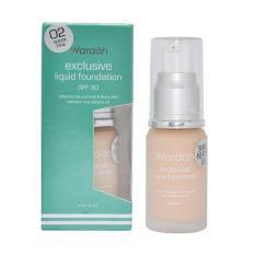 Wardah exclusive liquid foundation SPF 30 Alas Bedak Make Up Face Care - 20ml