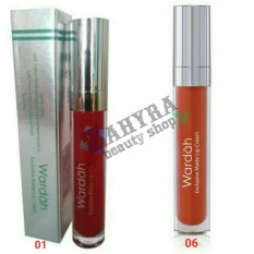 Wardah Exclusive Matte Lip Cream 01 Red Dicted dan 06 Feeling Red