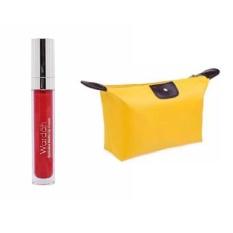 Wardah Exclusive Matte Lip Cream 01 Red Dicted Free Alisha Tas Kosmetik Mini - Kuning
