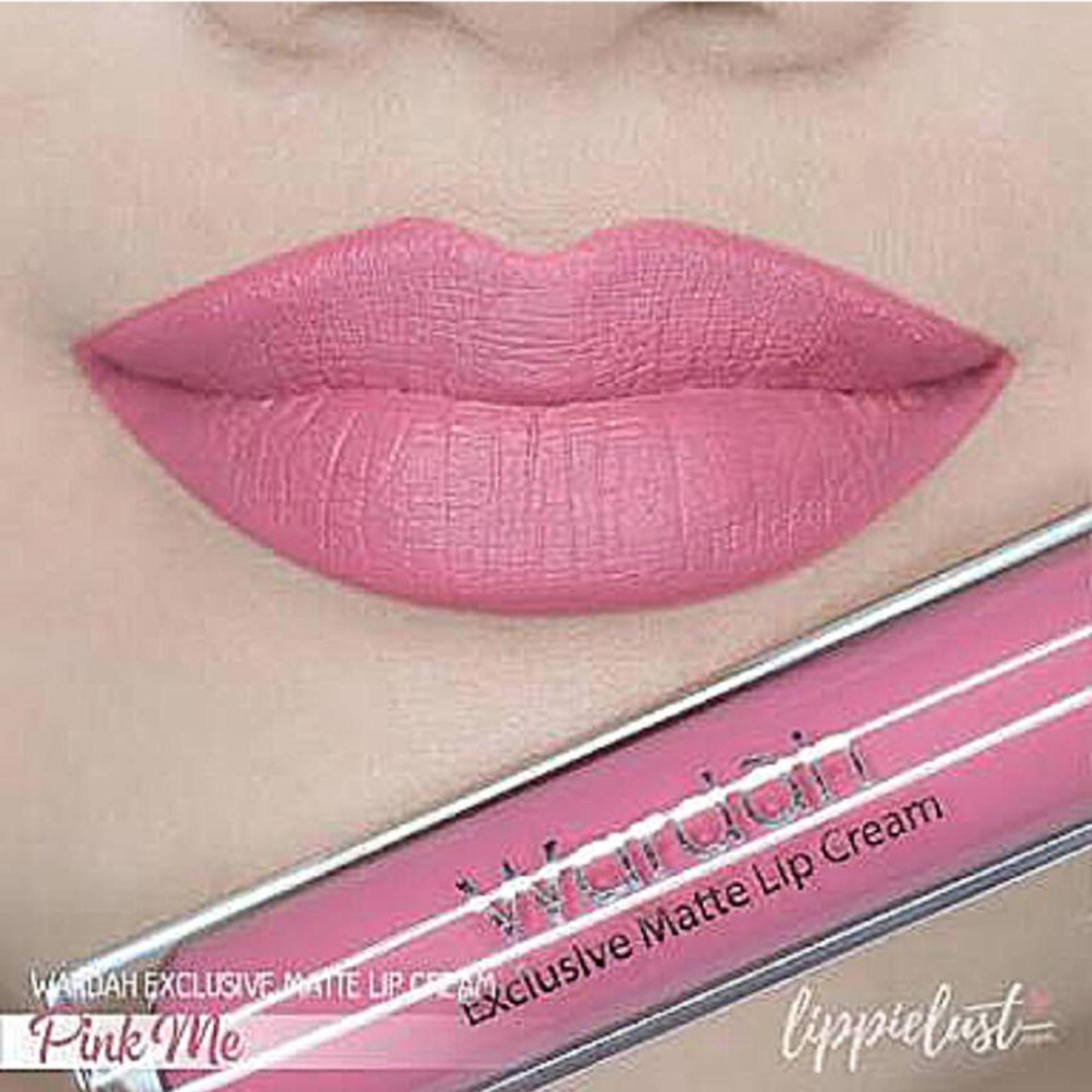 Warna unik Wardah Exclusive Matte Lip Cream (04 Pink Me) - Lip Cream Matte