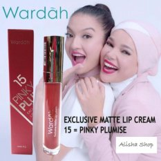 Wardah Exclusive Matte Lip Cream 15 Pinky Plumise Diskon Jawa Timur