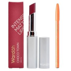 Wardah Intense Matte Lipstick 11 Choco Town Free Davis Pensil Alis Coklat Original