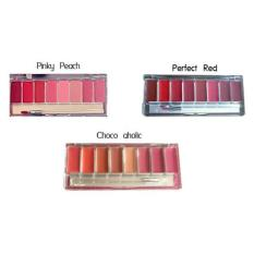 WARDAH LIP PALETTE (PINKY PEACH- CHOCOAHOLIC- PERFECT RED)