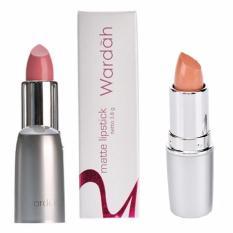 Jual Wardah Paket Lipstick Matte No 01 Soft Pink Dan Matte No 08 Brown Antik