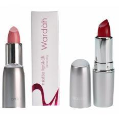 Kualitas Wardah Paket Lipstick Matte No 01 Soft Pink Dan Matte No 6 Dark Red Wardah