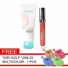 Spesifikasi Wardah Paket Sunscreen Exc Matte Lip Gratis Topi Golf Dan Harganya