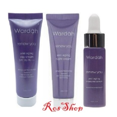 Jual Wardah Renew You Paket Day Cream Night Cream Dan Serum 17Ml Wardah Branded