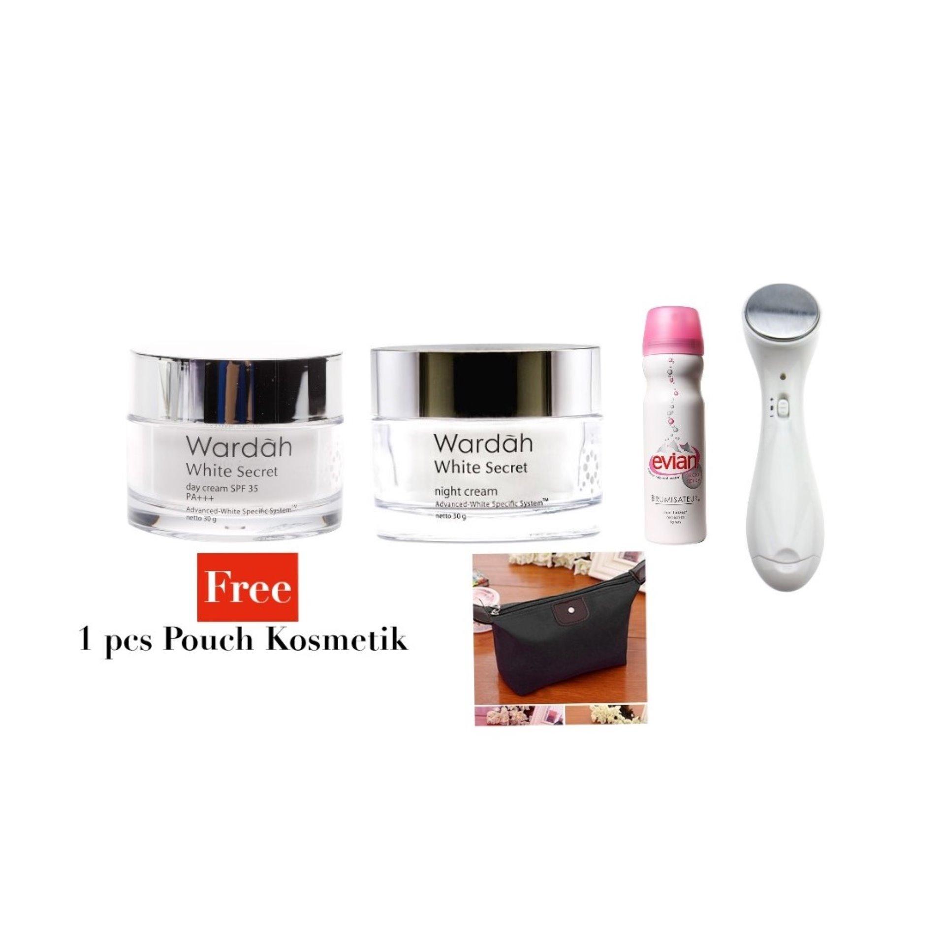 Penawaran Evian Facial Spray 300 Ml 300ml Wardah White Secret Ion Massager Skincare Perawatan Free Pouch