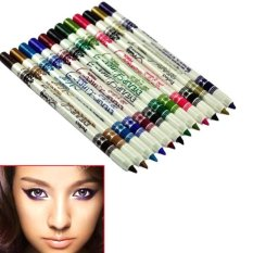 Waterproof Glitter Lip Eyebrow Eyeliner Bibir Pensil Alis Kosmetik Makeup Beauty 12 Piece Set (multicolor)