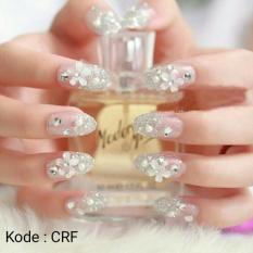 wedding party fake nail-kuku palsu pernikahan-aksesoris kuku-nailart-di kirim