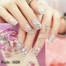 Spesifikasi Wedding Party Fake Nails Kuku Palsu Pernikahan Aksesoris Kecantikan Lengkap Dengan Harga
